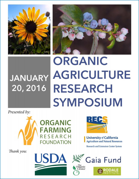 Organic Agriculture Research Symposium 2016