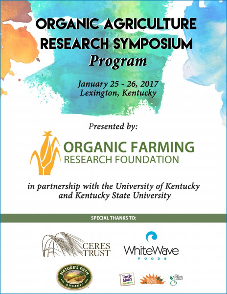 Photo of 2017 Organic Agriculture Research Symposium report cover