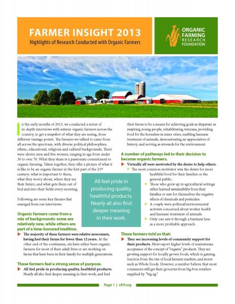 The Farmer Insight Report: 2013
