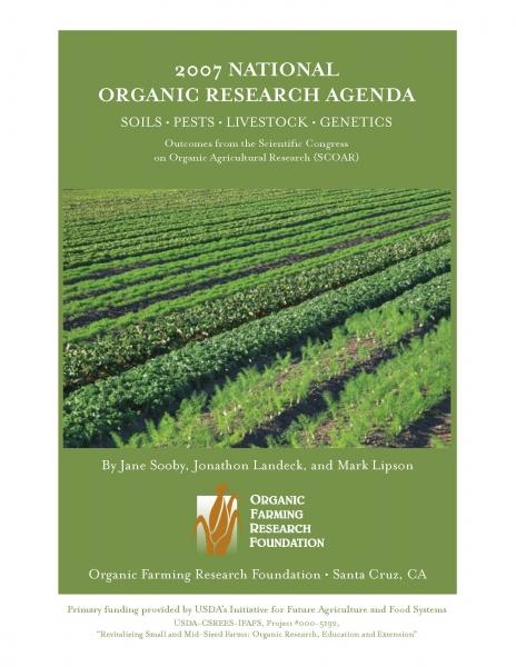 National Organic Research Agenda: 2007