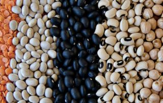 photo of an array of dried lentils and beans