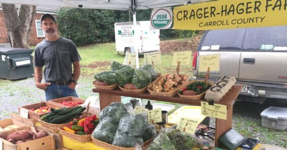 Bryan Crager at the farm stand
